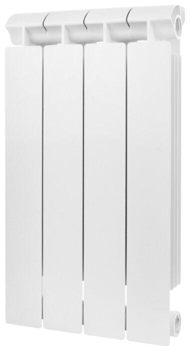 Купить Радиатор секционный биметаллический Global STYLE EXTRA 500 x4 теплоотдача 416 Вт, подключение боковое правое RAL 9010 по низкой цене с доставкой из Яндекс.Маркета (бывший Беру)