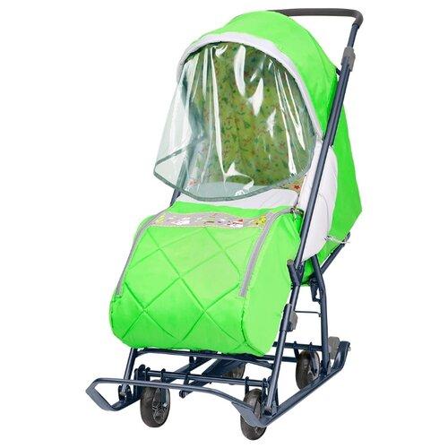 Санки-коляска Nika Наши детки 3 зеленый
