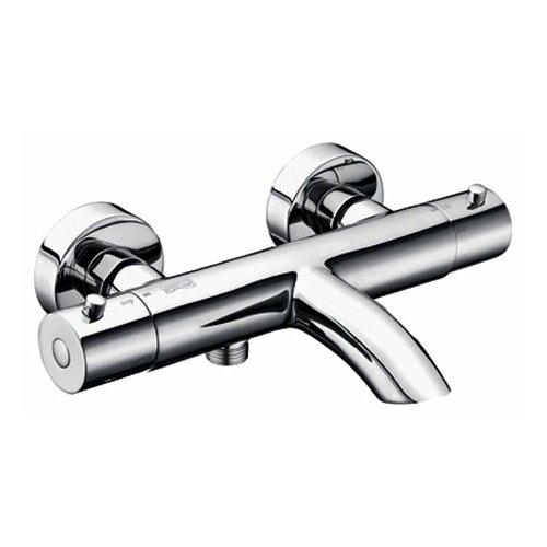 Смеситель для ванны с подключением душа WasserKRAFT Berkel 4811 Thermo двухрычажный с термостатом смеситель для ванны с душем wasserkraft berkel 4833 двухрычажный с термостатом встраиваемый хром