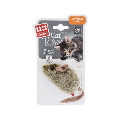 Игрушка для кошек GiGwi Cat Toys со звуковым чипом (75101) коричневый