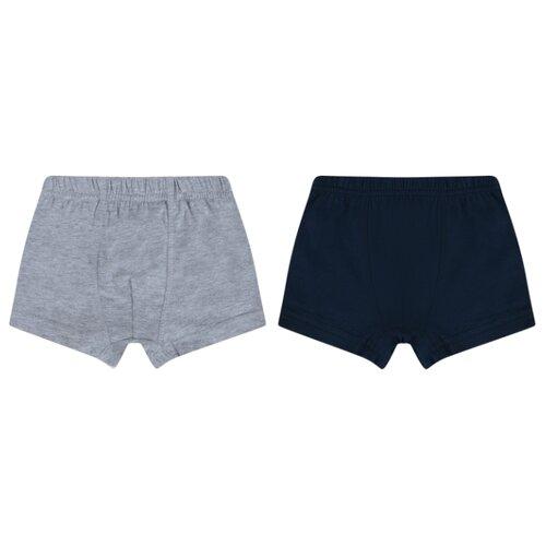 Купить Трусы Leader Kids 2 шт., размер 110-116, серый/синий, Белье и пляжная мода