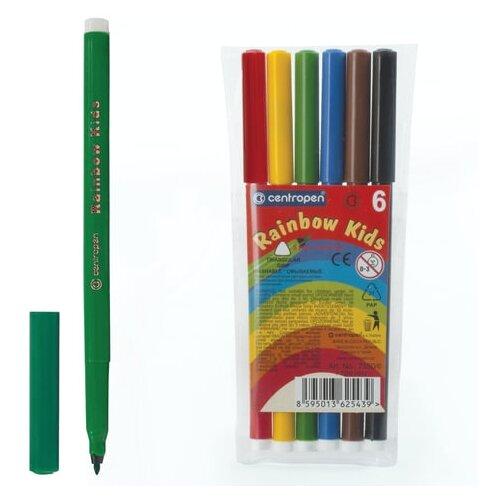 Фото - Centropen Набор фломастеров Rainbow kids, 6 шт. (7550/06) centropen набор фломастеров rainbow kids 12 шт 7550 12
