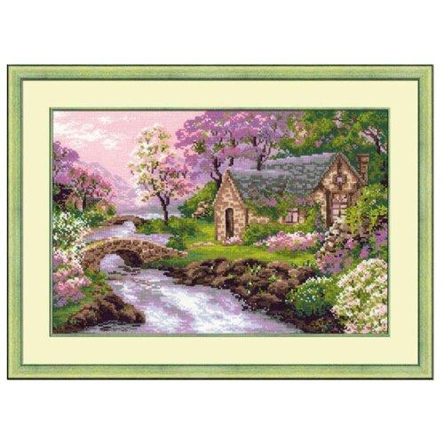 Купить Риолис Набор для вышивания крестом Весенний пейзаж 38 х 26 см (1098), Наборы для вышивания