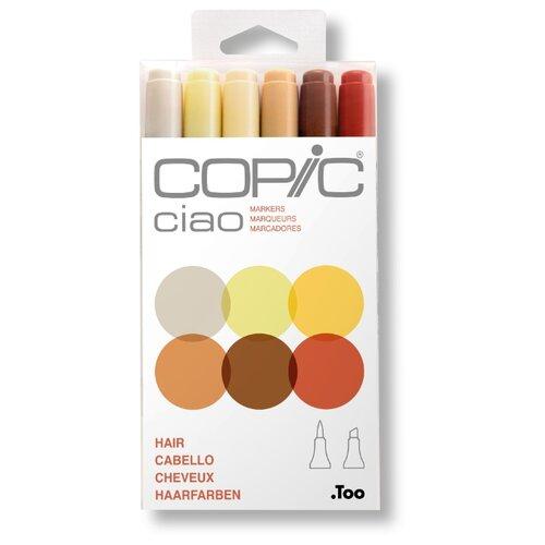 Купить COPIC набор маркеров Ciao Hair (H22075-668), 6 шт., Фломастеры
