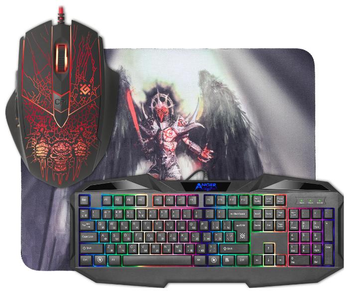 Defender Клавиатура и мышь Defender Anger MKP-019 RU Black USB