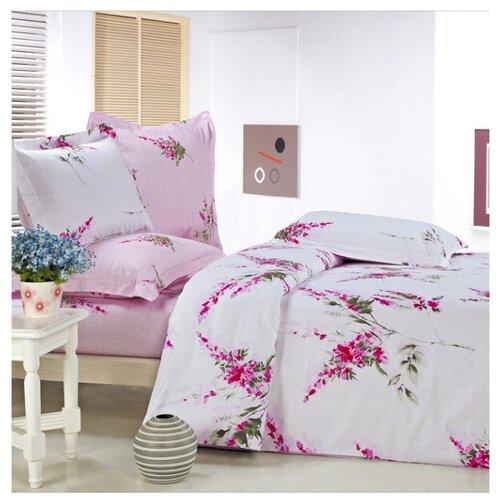 цена Постельное белье 2-спальное СайлиД B-59, сатин розовый онлайн в 2017 году
