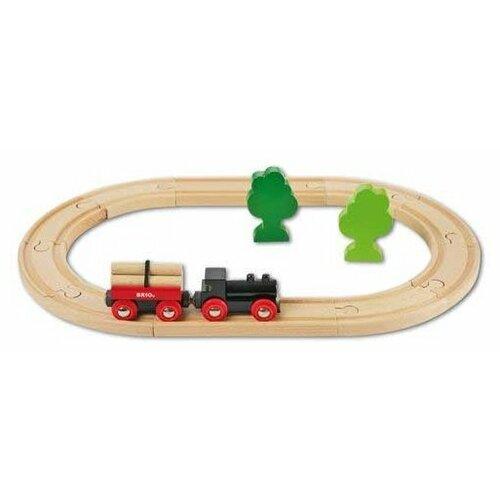 Brio Стартовый набор Железная дорога с грузовым поездом, 33042