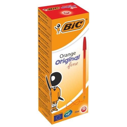 BIC Набор шариковых ручек Orange Original fine, 0.8 мм (1199110113/8099241/8099221/8099231), красный цвет чернил
