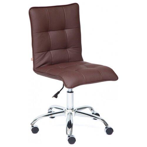 Компьютерное кресло TetChair Zero, обивка: искусственная кожа, цвет: коричневый кресло компьютерное tetchair оксфорд oxford доступные цвета обивки искусств корич кожа искусств корич перфор кожа