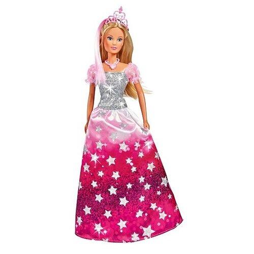 Кукла Steffi Love Штеффи в блестящем платье со звездочками и тиарой, 29 см, 5733317