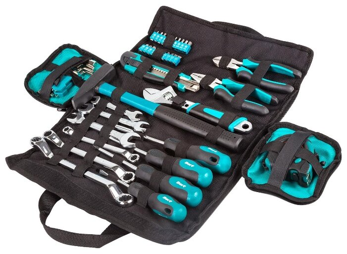 Набор инструментов Bort BTK-45 (45 предм.) — купить и выбрать из 5 предложений по выгодной цене на Яндекс.Маркете