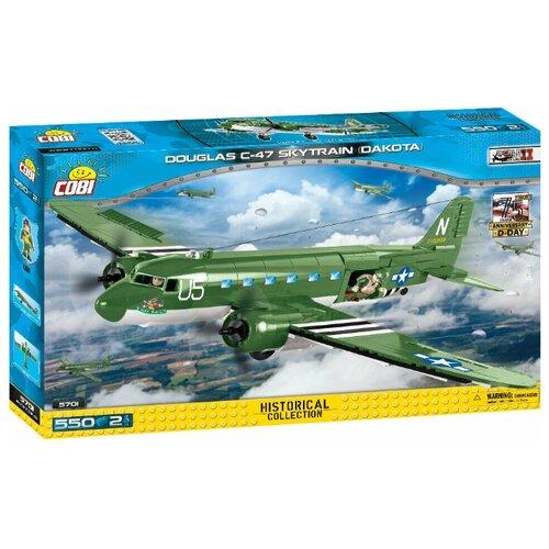 Конструктор Cobi Cold War 5701 Военно транспортный самолет Douglas C-47 Skytrain Dakota конструктор cobi самолет boeing 787 dreamliner