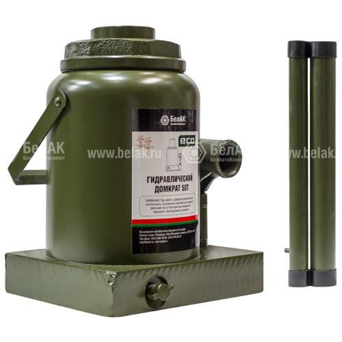 Домкрат бутылочный гидравлический БелАвтоКомплект ЭКО БАК.70023 (50 т) темно-зеленый