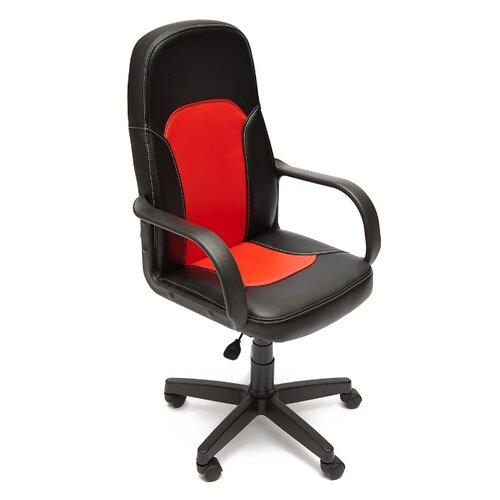 Компьютерное кресло TetChair Парма офисное, обивка: искусственная кожа, цвет: черный/красный компьютерное кресло tetchair jazz офисное обивка искусственная кожа цвет бежевый коричневый 4230