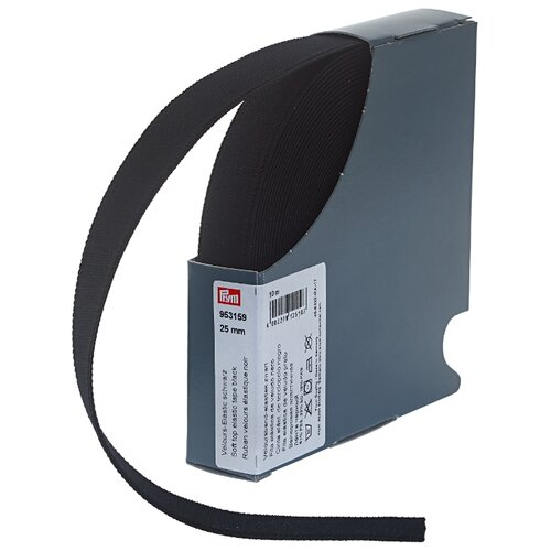 Купить Prym Велюровая эластичная лента (953159), черный 2.5 см х 10 м, Технические ленты и тесьма