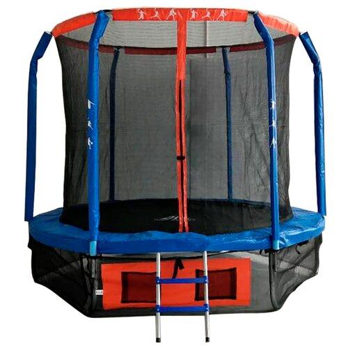 Каркасный батут DFC Jump Basket 6FT-JBSK-B 183х183х196 см синий/красный каркасный батут dfc jump sun 40inch js b 100х100х22 5 см синий