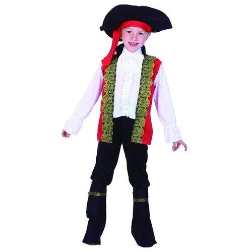 Костюм SNOWMEN Пират Е94761, белый/черный/красный, размер 4-6 лет костюм snowmen человек огонь е94758 красный черный размер 4 6 лет