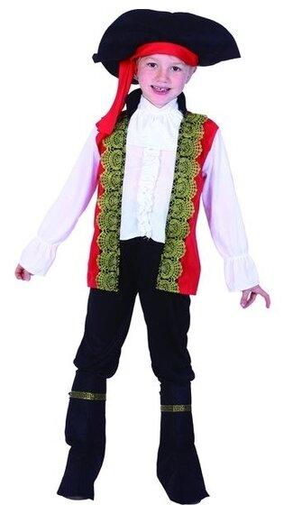Костюм SNOWMEN Пират Е94761, белый/черный/красный, размер 4-6 лет