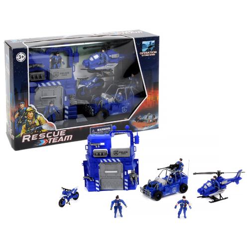 Купить Набор техники Shantou Gepai Rescue Team Полиция 1713709 синий, Машинки и техника