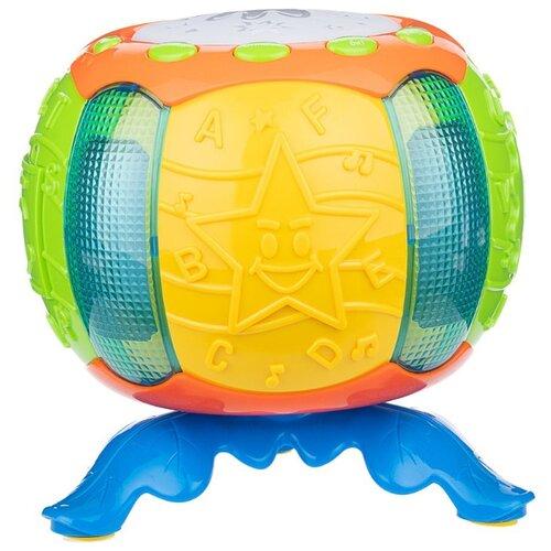 Развивающая игрушка Play Smart Музыкальный барабан желтый/зеленый/синий игрушка пластмассовая каталка вертолет play smart pac 28х15х10 см арт 1192
