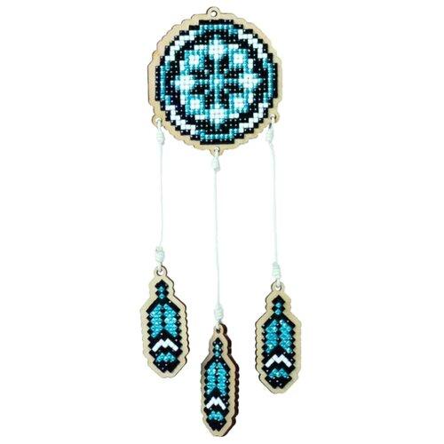 Гранни Набор алмазной вышивки Ловец снов синий (w0201) 7x7.5 см, Алмазная вышивка  - купить со скидкой