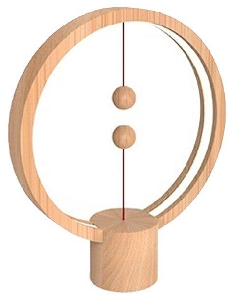 Ночник Allocacoc Heng Balance Lamp круглая (светлое дерево)