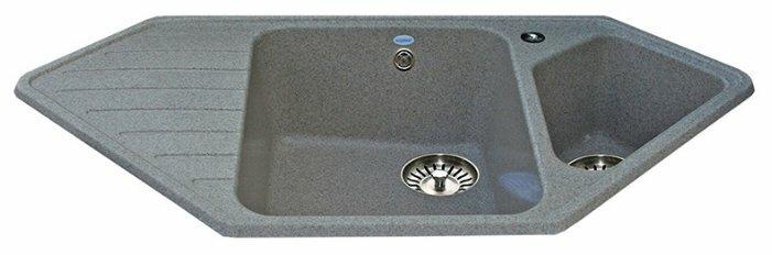 Врезная кухонная мойка Ulgran U-409 97х50.5см искусственный мрамор