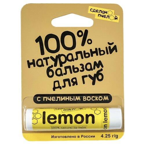 Сделано пчелой Бальзам для губ Lemon сделано чтобы прилипать