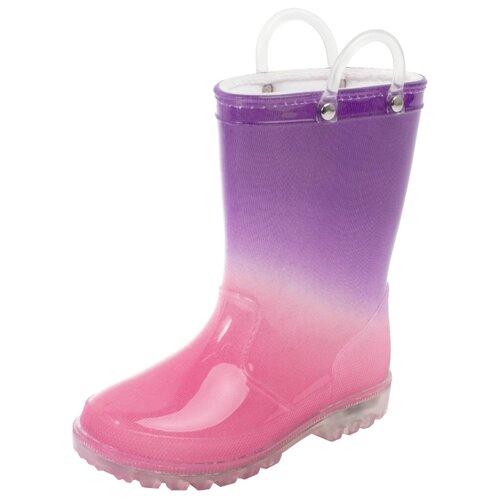 Резиновые сапоги playToday размер 28, розовый/фиолетовыйРезиновые сапоги<br>