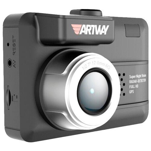 Видеорегистратор с радар-детектором Artway MD-105 COMBO 3 в 1 Compact, GPS черный
