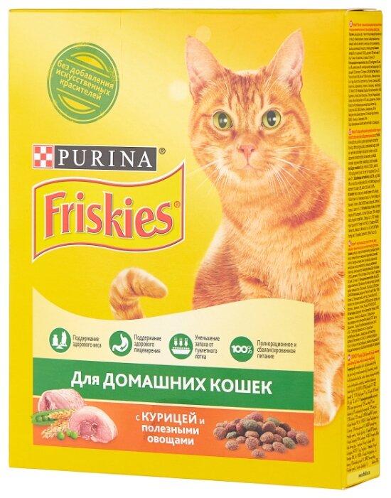 Купить Корм для кошек Friskies с курицей 300 г по низкой цене с доставкой из Яндекс.Маркета (бывший Беру)