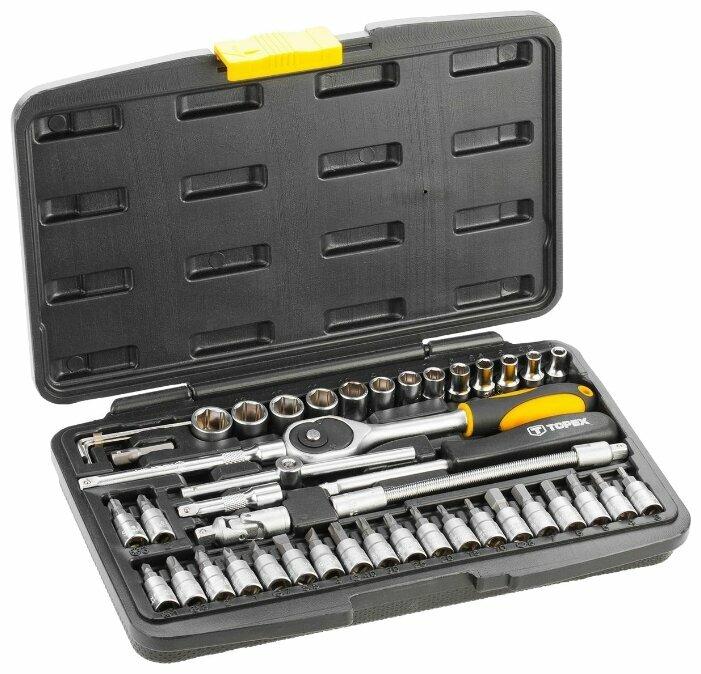 Набор автомобильных инструментов TOPEX 38D640 (46 предм.) — купить по выгодной цене на Яндекс.Маркете