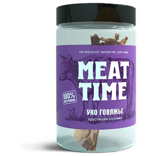 Лакомство MEAT TIME для Собак Ухо говяжье Хрустящая соломка 75г соломка хрустящая со вкусом аджики 50 г