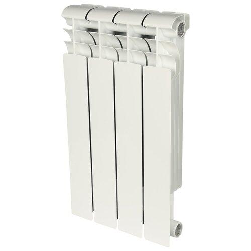 Радиатор секционный биметаллический ROMMER Profi Bm 500 x4 подключение универсальное боковое RAL 9016