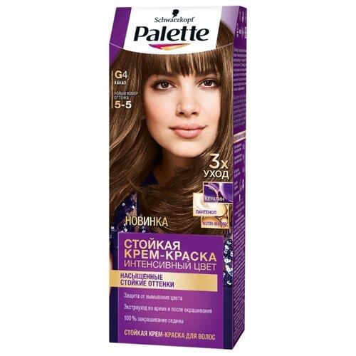 Palette Интенсивный цвет Стойкая крем-краска для волос, G4 5-5 КакаоКраска<br>