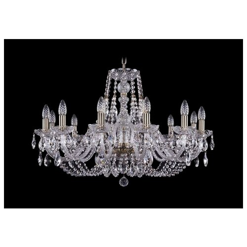 Люстра Bohemia Ivele Crystal 1406 1406/12/300/Pa, E14, 480 Вт люстра bohemia ivele crystal 1406 1406 12 300 pa