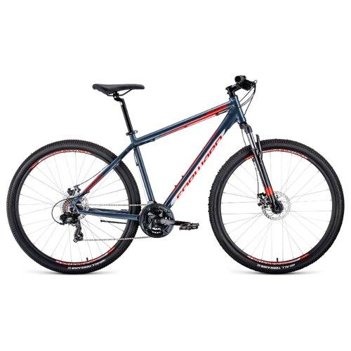 Горный (MTB) велосипед FORWARD Apache 29 2.0 Disc (2020) серый/красный 19
