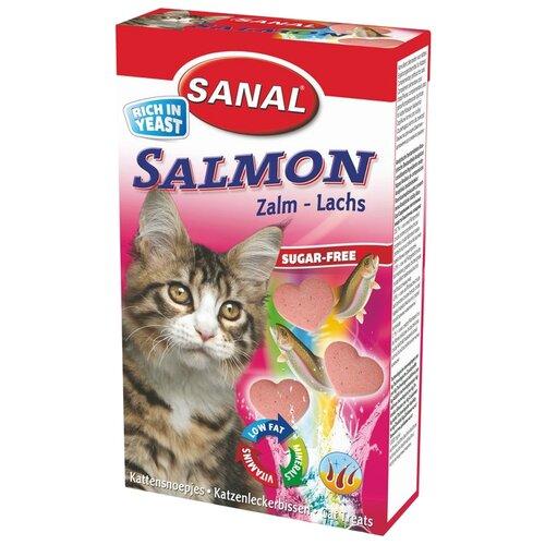 Добавка в корм SANAL Salmon с лососем для кошек и котят 50 г
