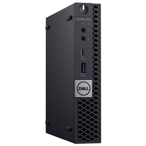 Настольный компьютер DELL Optiplex 7070 Micro (7070-6800) Micro-Tower/Intel Core i7-9700/8 ГБ/256 ГБ SSD/Intel UHD Graphics 630/Windows 10 Pro черный компьютер