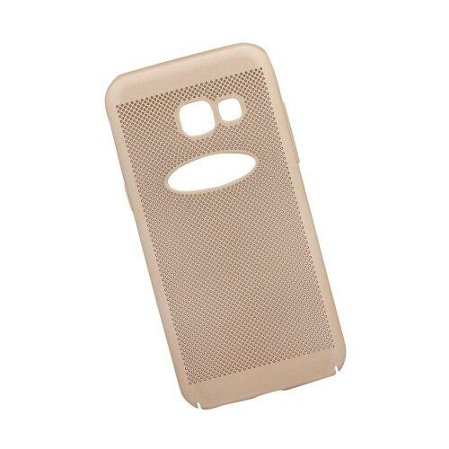 Чехол Liberty Project Сетка Soft Touch Samsung Galaxy A3 (2017) золотой
