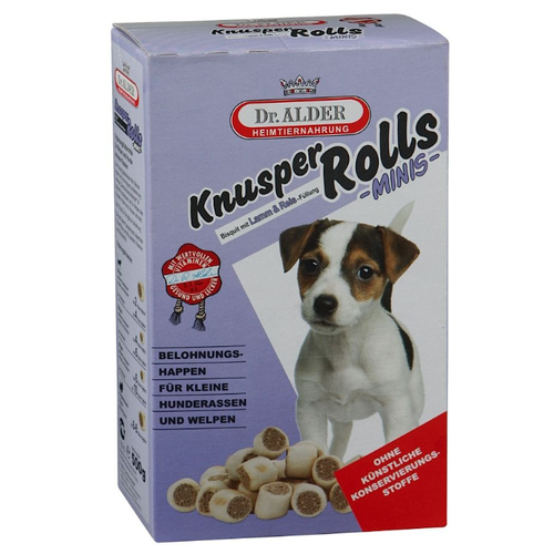 Лакомство для собак Dr. Alder`s Knusper Rolls Mini с ягненком и рисом, 500 г недорого