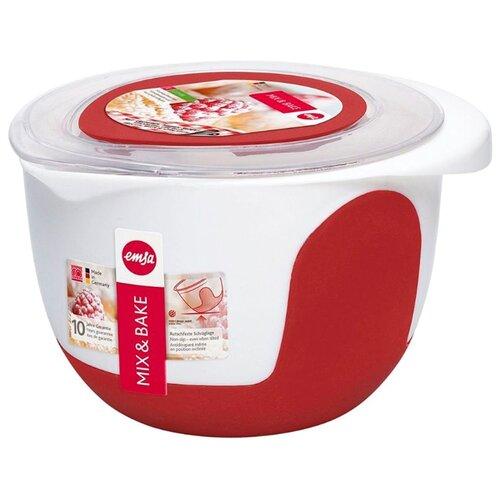Миска EMSA Mix&Bake 508018 белый/красный набор для салата emsa vienna цвет белый 7 предметов