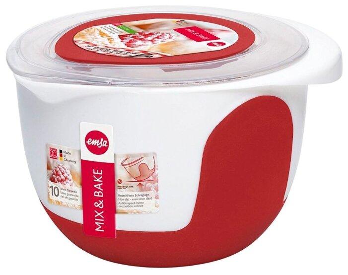Миска EMSA Mix&Bake 508018 белый/красный