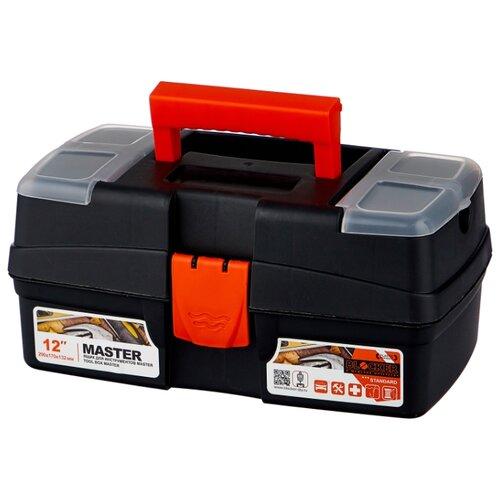 Ящик с органайзером BLOCKER Master PC3690 29x17x13.2 см 12'' черный/оранжевый ящик с органайзером blocker master br6006 61x32x30 см 24 серо свинцовый оранжевый