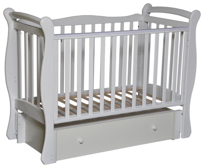 Кроватка Кедр Любаша 5 (с ящиком) (классическая), универсальный маятник