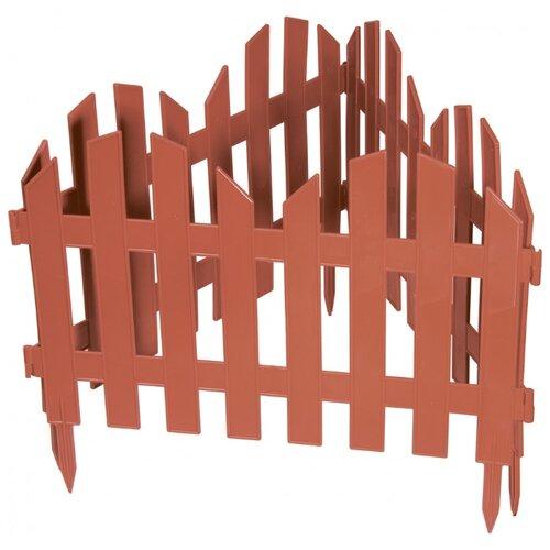 Забор декоративный PALISAD Романтика, терракот, 3 х 0.28 м забор декоративный винтаж 28 х 300 см терракот россия palisad