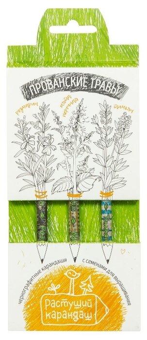 Эйфорд Набор чернографитных карандашей Прованские травы 3 шт (RK-01-03-07)