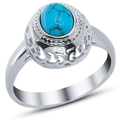 Silver WINGS Кольцо с бирюзой из серебра 21set10724-113, размер 17 silver wings кольцо с бирюзой из серебра 21set10724 113 размер 17