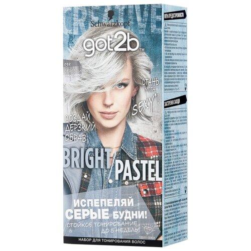 Schwarzkopf got2b Bright/Pastel Тонирующая краска для волос, 098 Серебристый металлик тонирующая краска матрикс
