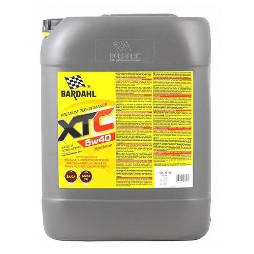 Синтетическое моторное масло Bardahl XTC 5W-40 Sn/Cf, 20 л полусинтетическое моторное масло bardahl xtc 10w 40 sl cf 4 л